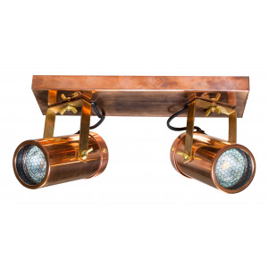 Dutchbone Plafondlamp 'Scope' 2-lamps, kleur Koper