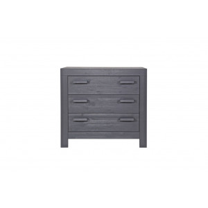 New life commode grenen geborsteld steel grey