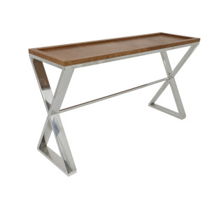 Light & Living Side-table 'Patrick' 150cm, kleur bruin leer