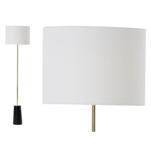 Rita staande lamp, messing en marmer