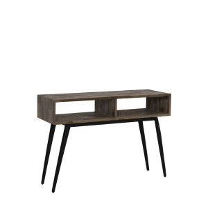 Light & Living Side-table 'Taburico' open, mix hout-mat zwart