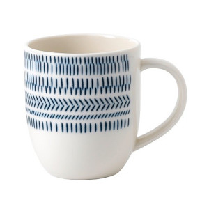 Royal Doulton Ellen DeGeneres Mok 400 ml - Dark Blue Chevron