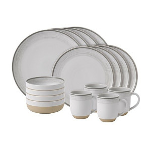 Royal Doulton Ellen DeGeneres Serviesset 16 stuks - Brushed Glaze White