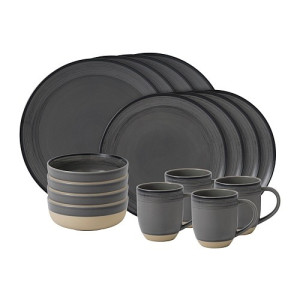 Royal Doulton Ellen DeGeneres Serviesset 16 stuks - Brushed Glaze Grey