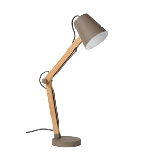 Lucide bureaulamp Tony - taupe - Leen Bakker
