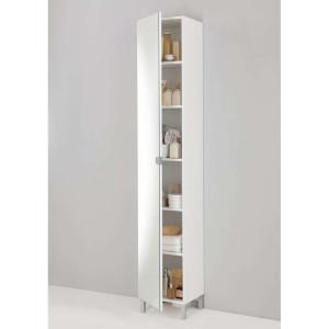 Badkamer spiegelkast Tarragona - wit - 195,5x33,5x31,5 cm - Leen Bakker