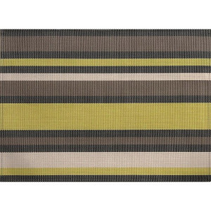 ZicZac Placemat 33x45 cm - Limegroen/Taupe
