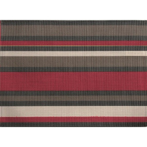 ZicZac Placemat 33x45 cm - Rood/Taupe