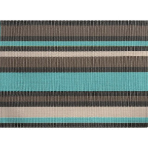 ZicZac Placemat 33x45 cm - Turquoise/Taupe