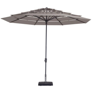 Madison Parasol Syros rond 350 cm taupe PC12P015