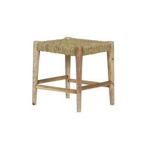 BePureHome Wicker Kruk Hout/Geweven Touw 42 x 42 cm - Naturel