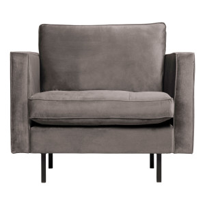BePureHome Fauteuil 'Rodeo' Velvet, kleur Taupe