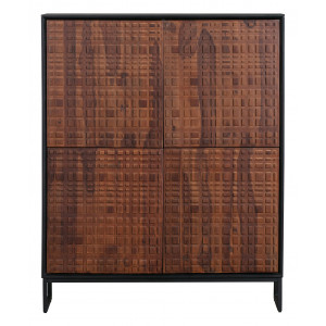 BePureHome Opbergkast 'Nuts' Sheesham hout, 140 x 114cm