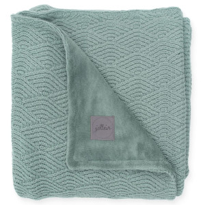 Jollein Deken River Knit 100x150 cm fleece asgroen