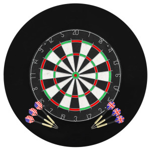 vidaXL Dartbord professioneel met 6 darts en surround sisal