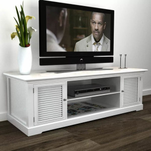 vidaXL Tv-meubel hout (wit)
