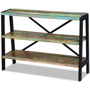 vidaXL Dressoir 3 planken massief gerecycled hout