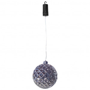 Luxform Hanglamp op batterijen X-Mass Ball Diamonds LED zilverkleurig