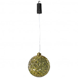 Luxform Hanglamp op batterijen X-Mass Ball Diamonds LED goudkleurig