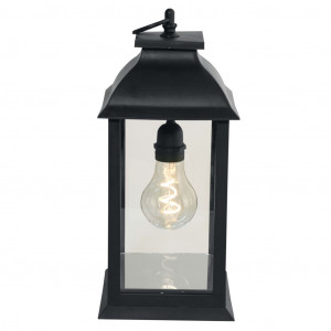 Luxform Tafellamp op batterijen LED Black Lantern A60