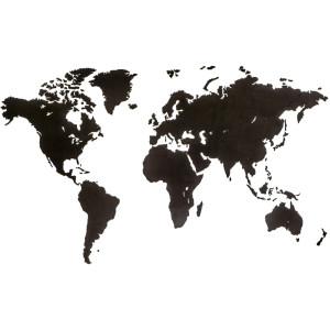 MiMi Innovations Wereldkaart muurdecoratie Luxury 180x108cm hout zwart