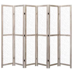 vidaXL Kamerscherm met 6 panelen 210x165 cm massief hout wit