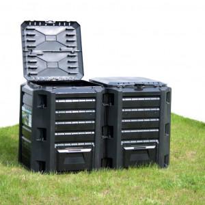 vidaXL Compostbak 1600 L zwart