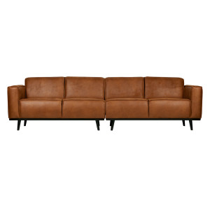 BePureHome Statement 4 zits bank 280 cm recycle leer cognac