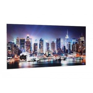 Artprint op glas New York City-Times Square