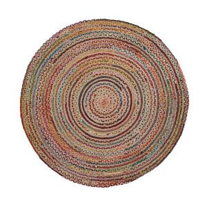 LaForma rond vloerkleed 'Samy' jute 150cm, kleur multicolor