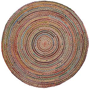 LaForma Rond Vloerkleed 'Samy' 100cm, multicolor