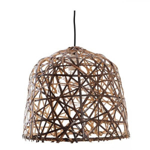 Ay Illuminate Black Bird's Nest Hanglamp Bamboe - Ø35 x 39 cm