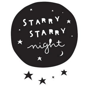 A Little Lovely Company Muursticker - Starry Starry Night