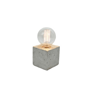 Alpha gold concrete table lamp - white cable