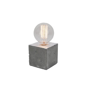 Alpha silver concrete table lamp - yellow cable