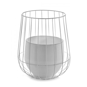 Serax Pot In A Cage Bloempot - Wit