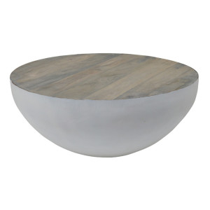 Brix Salontafel 'John' Bowl wit, 70cm, kleur grey wash