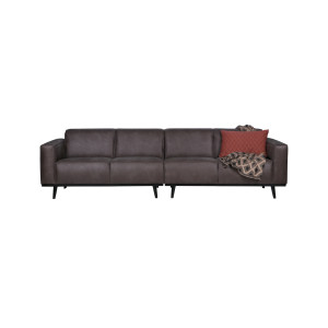BePureHome Statement 4 zits bank 280 cm recycle leer charcoal