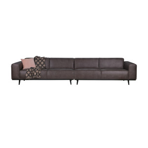 BePureHome Statement 4 zits XL bank 372 cm recycle leer charcoal