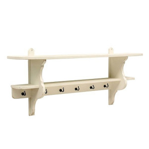 Timzowood Living Country Console Kapstok 125 cm - Geschuurd Wit