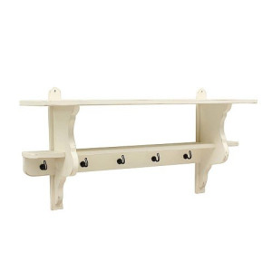 Timzowood Living Country Console Kapstok 100 cm - Geschuurd Wit