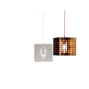 Plywood Cube Pendant Lamp