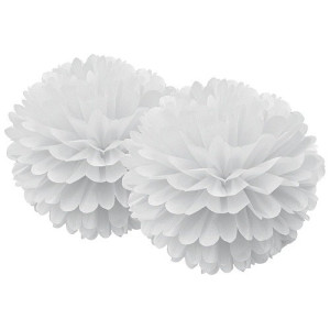 Delight Department Decoratie Pom Pom Set van 2 - Wit
