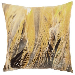 De Kussenfabriek Digital Print Light Feathers Kussen 45 x 45 cm - Geel