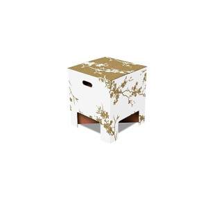 Dutch Design Chair Kruk Karton 30 x 34 cm - Gold
