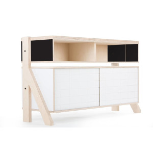Frame Sideboard 02 Small - 10 Colours - L115cm - Inky Black
