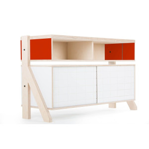 Frame Sideboard 02 Small - 10 Colours - L115cm - Cherry Red