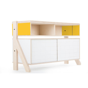 Frame Sideboard 02 Small - 10 Colours - L115cm - Canary Yellow