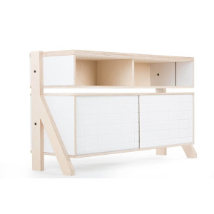 Frame Sideboard 02 Small - 10 Colours - L115cm - Snow White