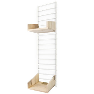 Tolhuijs Fency Opbergrek Pakket Mini Normal Pallet wood - White
